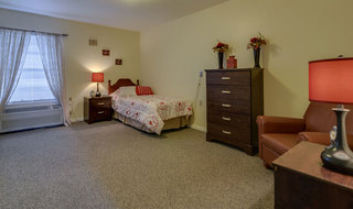 Jefferson city community model bedroom for assisted living