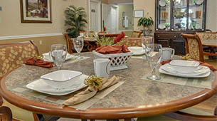 Services and amenities for senior living residents at Westbrook Terrace.