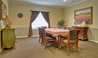 Assisted living community table area