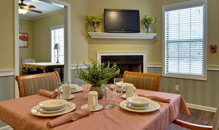 Dining table at assisted living community in starkville