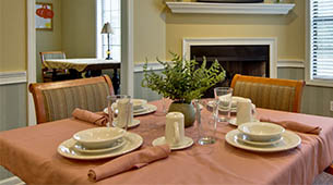 Services and amenities for senior living residents at Montgomery Gardens.
