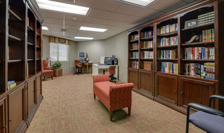 Assisted living community library in kansas city