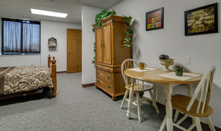 Kansas city model assisted living bedroom