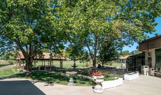 Outdoor area for assisted living residents in kansas city