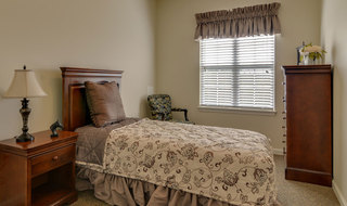 Assisted living model bedroom