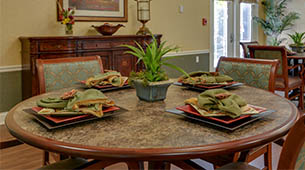 Services and amenities for senior living residents at Colony Pointe.