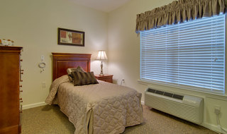 Assisted living bedroom model in fairview heights