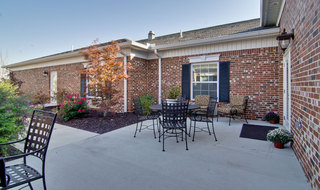 Fairview heights exterior assisted living building patio