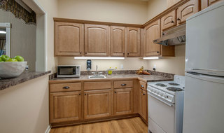 Kitchen at memphis assisted living community