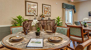 Services and amenities for senior living residents at South Breeze.