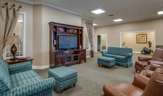 Tv room for assisted living residents in farmington