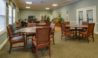 Dining area smyrna assisted living