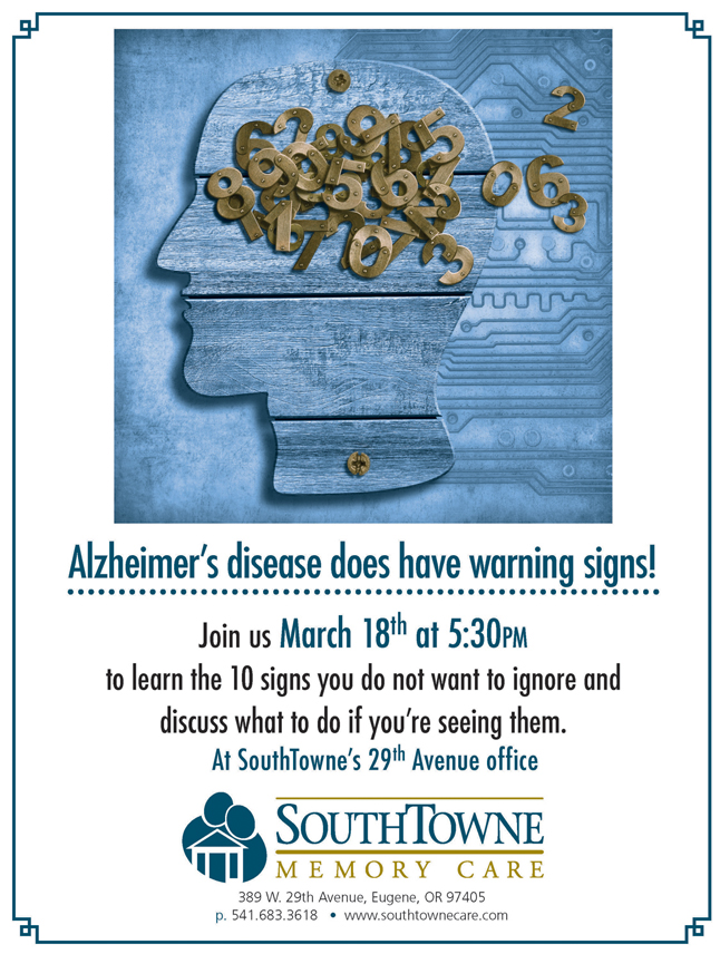 Southtowne Alzheimer's warning signs lecture