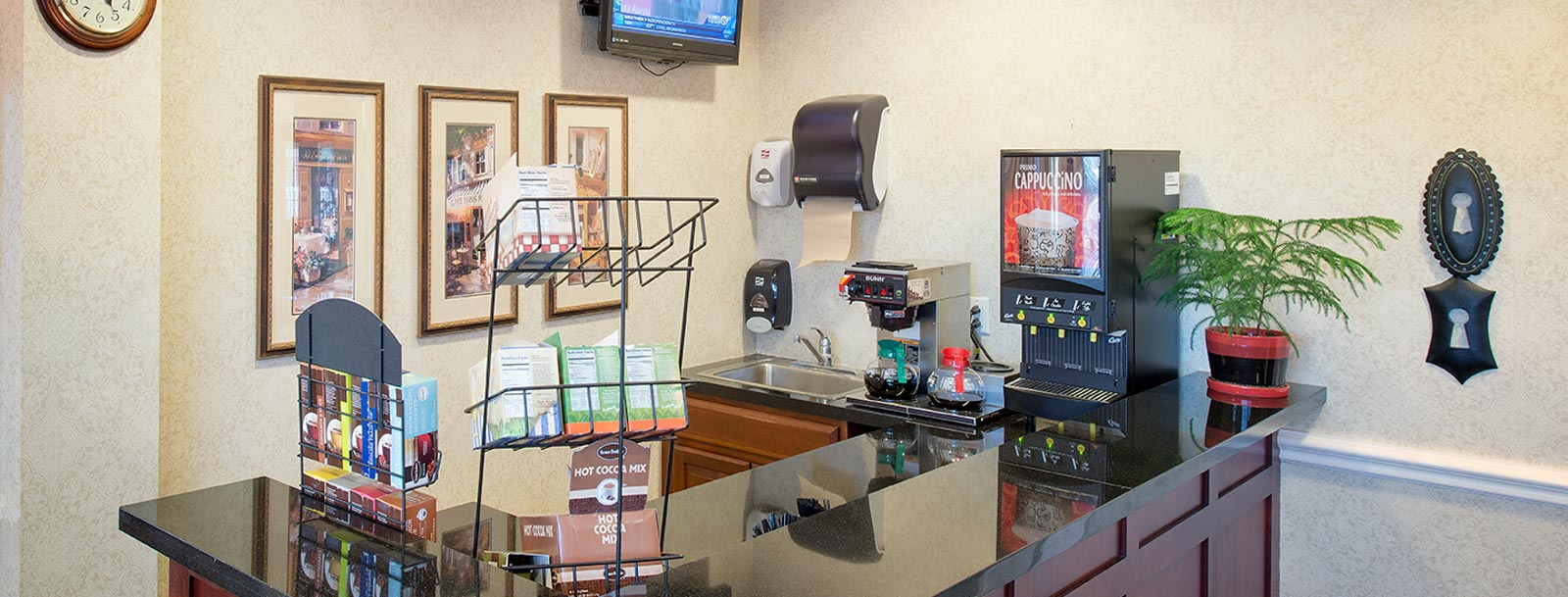 Capuccino bar at the senior living in Olathe