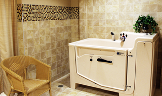 Wichita, Kansas senior living shows the memory care wash room