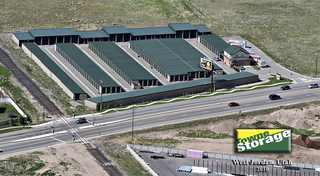 Aerial photo of our storage facility in west jordan