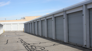 Aerial photo of our storage facility in clearfield