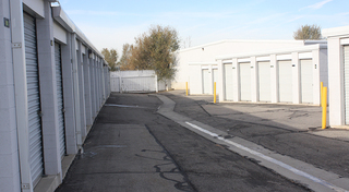 Blue storage doors at our facility in clearfield