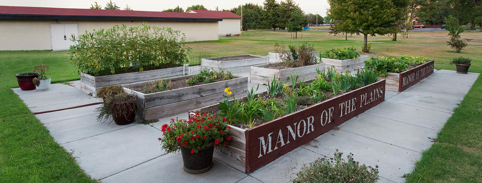 Garden at the senior living facility in Dodge City
