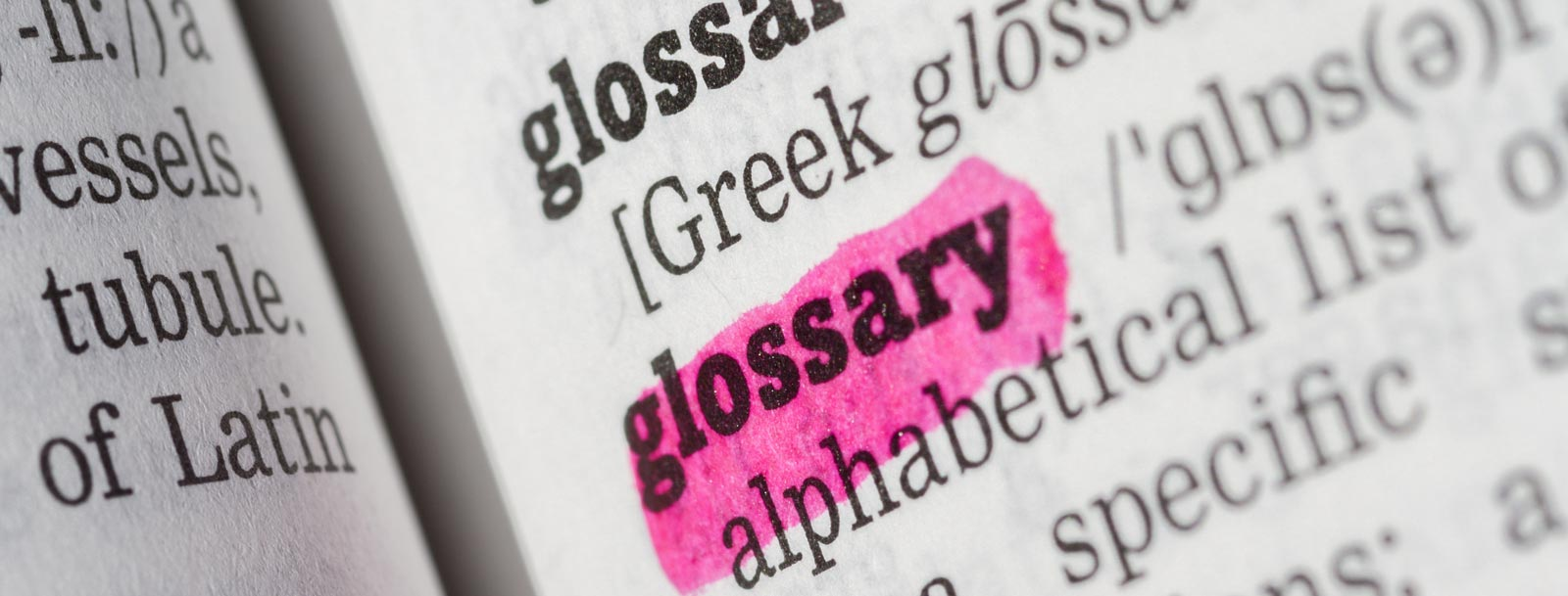 A glossary to help you understand the terminology at the senior living in Dodge City