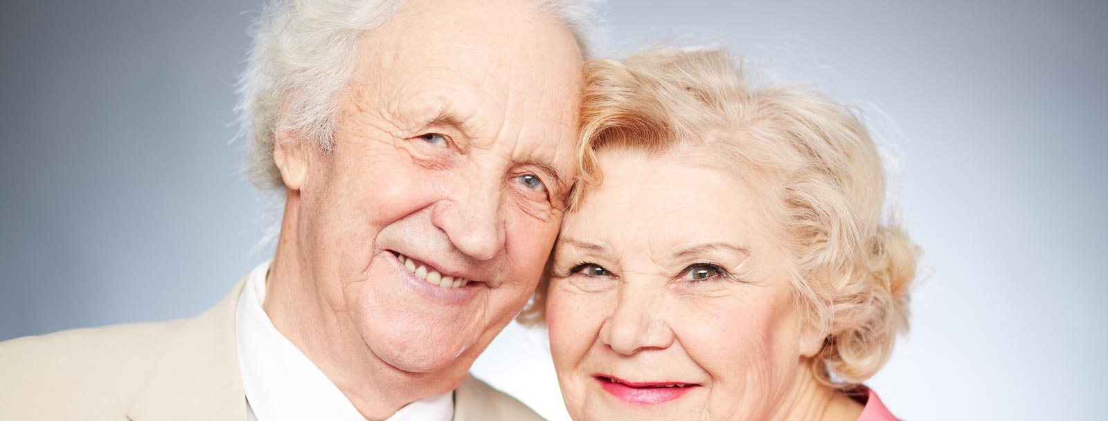 Happy couple enjoying each other at the senior living facility in Dodge City
