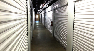 Happy couple store good in our union park storage units