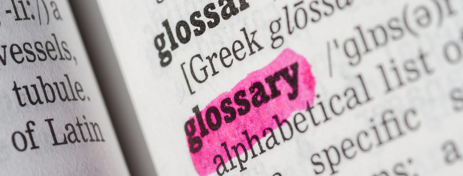 A glossary to help you understand the terminology at the senior living in Arkansas City