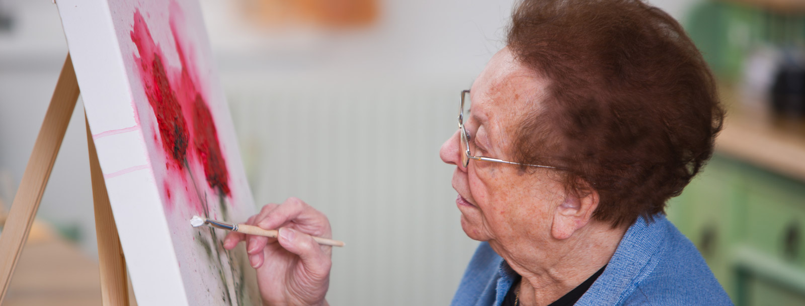 Art is Ageless program at the senior living facility in Salina