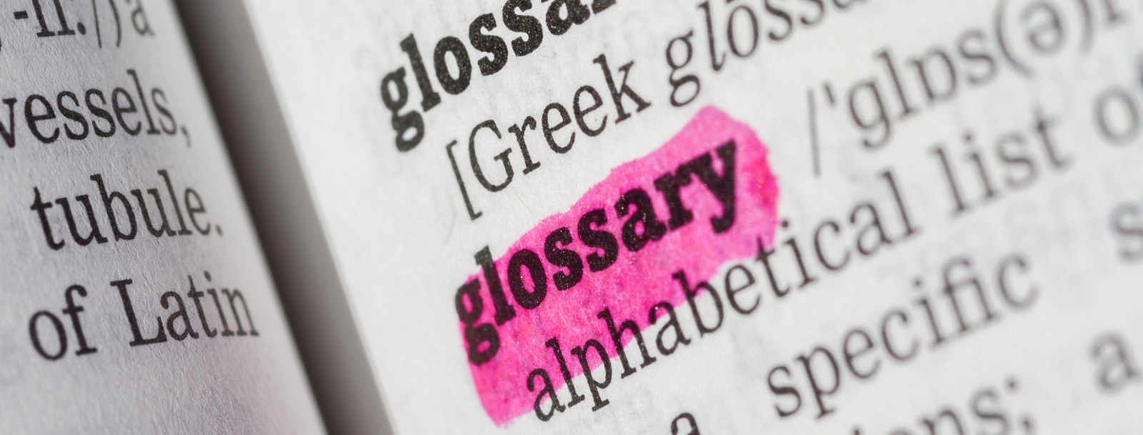 A glossary to help you understand the terminology at the senior living in Salina