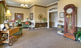 Milan assisted living community lounge