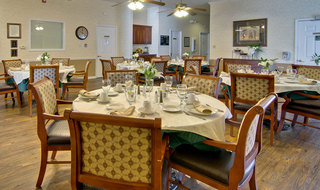Milan assisted living dining hall