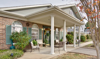 Milan assisted living front porch