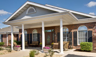 Nixa assisted living main entrance