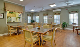 Kitchen and dining saint peters assisted living