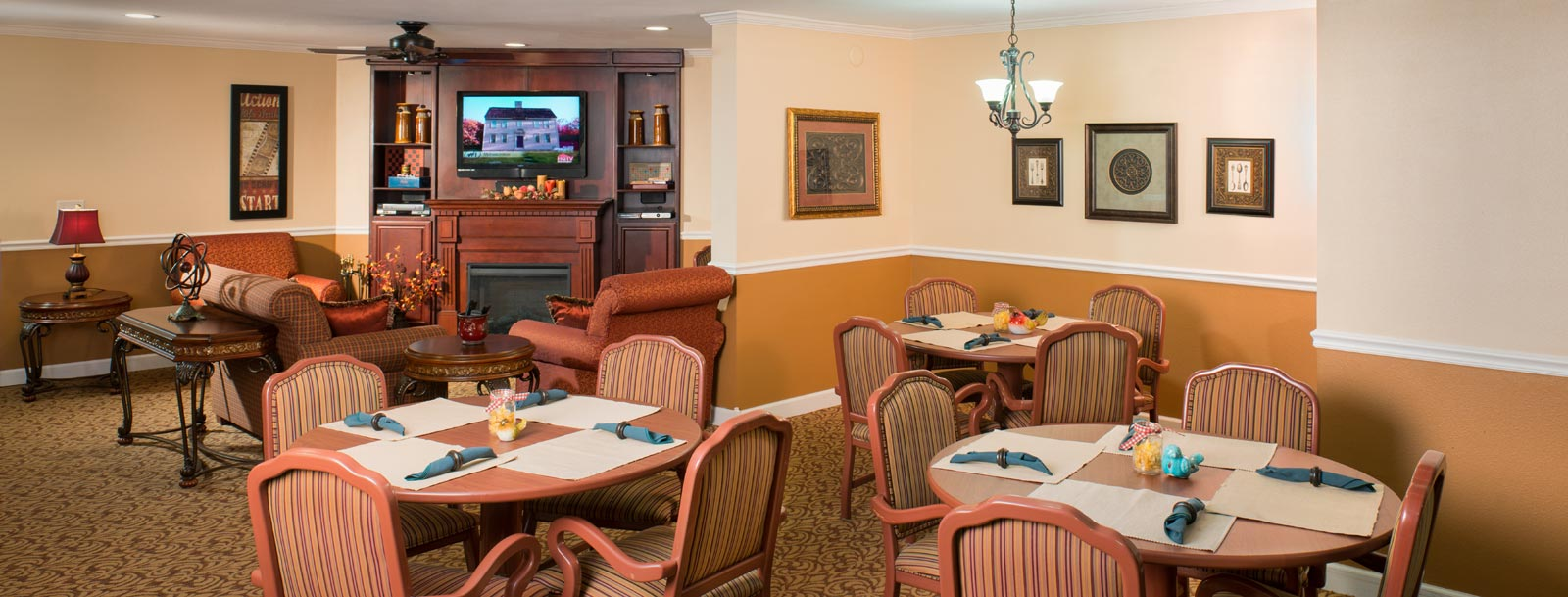 Professional chefs to prepare your meals at the senior living facility in Newton