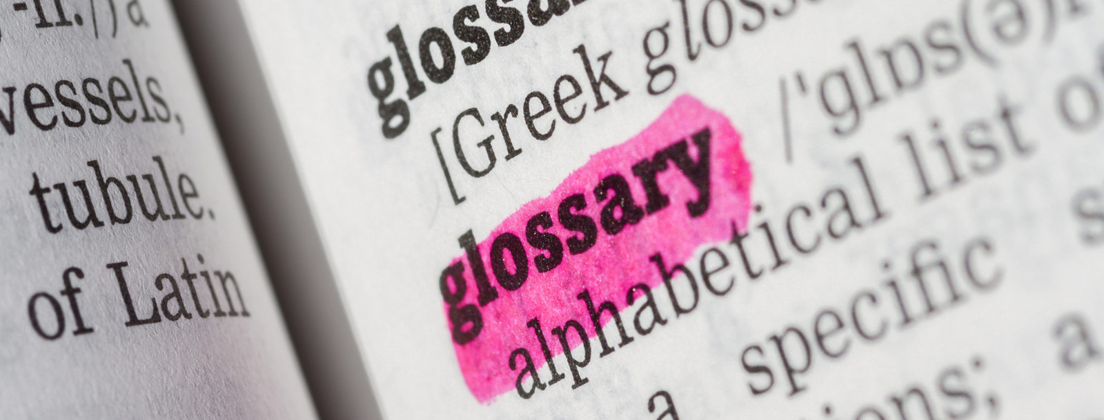 A glossary to help you understand the terminology at the senior living in Farmington