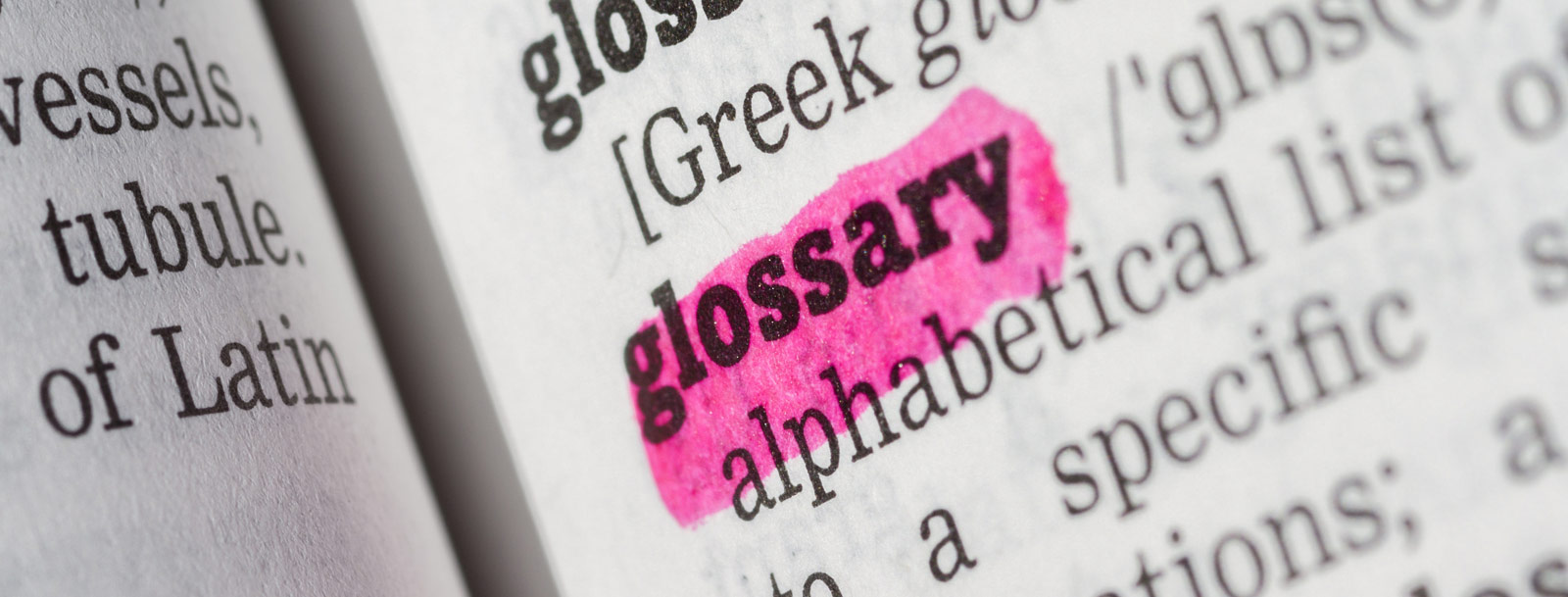 A glossary to help you understand the terminology at the senior living in Clay Center