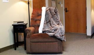 Comfy chair at the Dodge City senior living community