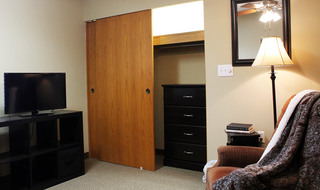 Spacious bedrooms at the senior living community in Dodge City