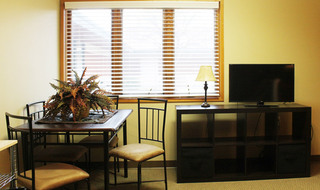 Bright dining area in Dodge City senior living community