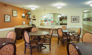 Dining room at the senior living in Arkansas City