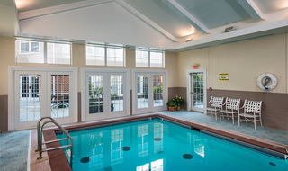 Large pool area at the senior living in Olathe