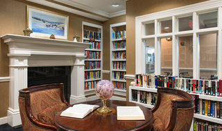 Olathe senior living has a large library