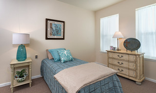 Open bedroom in Olathe senior living