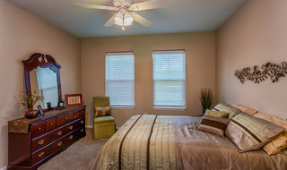 Senior living in Olathe has a spacious bedroom