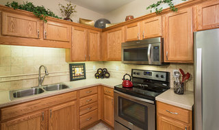 Luxury kitchen at the senior living in Olathe
