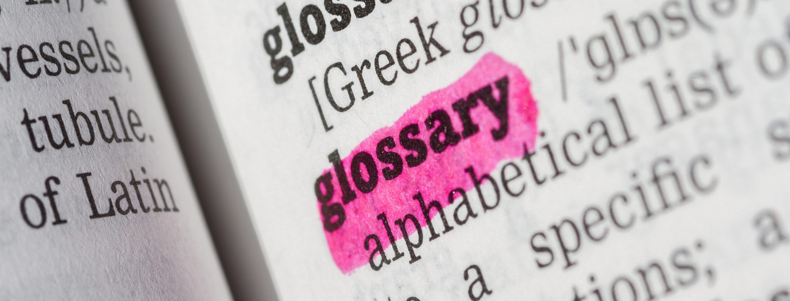 A glossary to help you understand the terminology at the senior living in Rolla