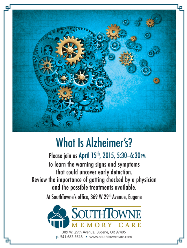 what is alzheimer's SouthTowne support group April 2015
