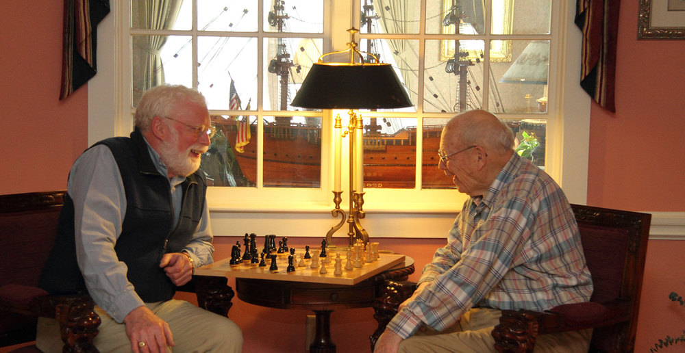 Game between assisted living friends in maine