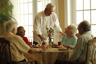 Chef served food assisted living maine